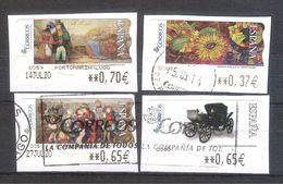 España 2005-Pinturas-4 Sellos Adhesivos Usados-España Spain Spanje Spanien - 1931-Heute: 2. Rep. - ... Juan Carlos I