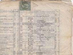 N° 19 SEUL SUR CATALOGUE QUETTIER PEPINIERISTE A USSY CALVADOS  /  2873 - Storia Postale