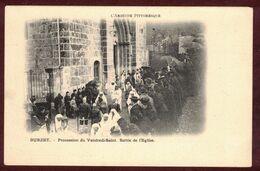 Burzet Procession Religieuse Du Vendredi-Saint  Sortie De L' église * Ardèche 07450 * Arrondissement Largentière - Autres Communes