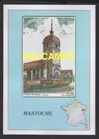 DF / ILLUSTRATEURS / YVES DUCOURTIOUX / 70 HAUTE-SAÔNE / MANTOCHE : L' EGLISE - Other Illustrators