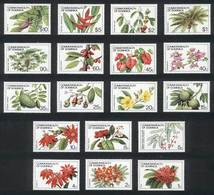 DOMINICA: Yvert 694/711, Flowers, Complete Set Of 18 Values, Excellent Quality! - Dominica (1978-...)