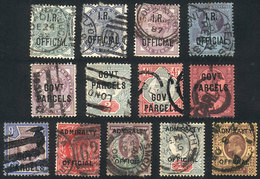 GREAT BRITAIN: Good Lot Of Old Used Stamps, All Different And In General Of Very Fine Quality. Scott Catalog Value Over  - Servizio