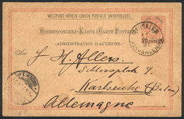ISRAEL: 20pa. Postal Card Sent From The Austrian Postal Office In JERUSALEM To Germany On 12/FE/1891, VF Quality! - Israel