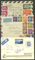 ISRAEL: 2 Covers + 1 Aerogram Sent To Argentina In 1950s, Small Fault, Interesting! - Israel