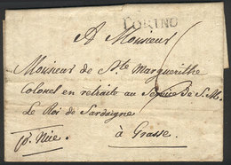 ITALY: Entire Letter With Interesting Text Sent From TORINO To Grasse On 14/OC/1815, Fine Quality! - 1. ...-1850 Prefilatelia
