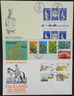 FALKLAND ISLANDS/MALVINAS: 3 Nice Modern FDC Covers, Very Thematic, VF Quality! - Falklandinseln