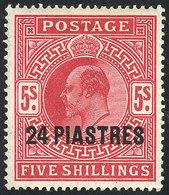 BRITISH MOROCCO: Sc.12, 1902/5 24Pi., Mint, VF - Morocco Agencies / Tangier (...-1958)