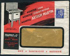 1939 France Grenoble Frappat & Co. Illustrated Advertising Cover Grenoble. Arthur Martin, Cuisiniere A Gaz. Kitchen - Advertising