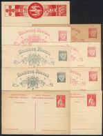 PORTUGAL: 9 Unused Postal Cards, Including Some Varieties, Very Fine Quality! - Postal Stationery