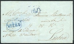 PORTUGAL: Entire Letter Sent From VIZEU To Lisboa On 14/JUN/1849, VF Quality! - Portugal