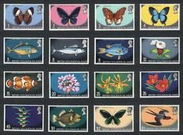 SOLOMON ISLANDS: Yvert 213/27 + 234, Animals, Birds, Fish And Flowers, Complete Set Of 16 Values, Excellent Quality! - Salomon (Iles 1978-...)