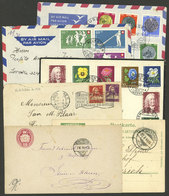 SWITZERLAND: 6 Covers Or Postal Stationery Used Between 1874 And 1962, Attractive Group! - 1862-1881 Helvetia Assise (dentelés)