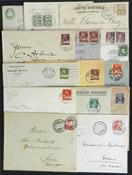 SWITZERLAND: 15 Covers And Cards Used Between 1876 And 1927 With Varied Postages And Many Interesting Postmarks, For Exa - 1862-1881 Helvetia Assise (dentelés)
