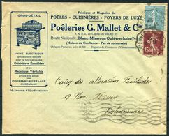 1938 France Illustrated Advertising Cover, Usine Electrique, Cuisinieres, Majolique Magasin. Poeleiries G Mallet & Co. - Advertising