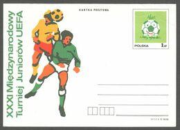 UEFA European U-18 Championship / Football Soccer 1978 POLAND - Stamped STATIONERY Postcard - Small Damage - Fußball-Europameisterschaft (UEFA)
