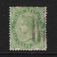 INDIA INGLESA - CLÁSICO. Yvert Nº 40 Usado Y Defectuoso - India (...-1947)