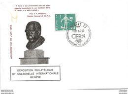 206 - 65 - Enveloppe Avec Cachet Illustré Cern 10.6.65. - Expo Philatélique Et Culturelle Internationale Genève - Marcophilie