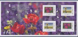 Eté Collector 4 TVP LP Les Exclusifs Cosmos Bipinnatus & Fleurs De Tournesol Cadre Gris Philaposte Papillons Coquelicots - Collectors