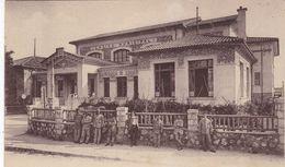 06. JUAN LES PINS. CPA. LE CASINO MUNICIPAL. ANIMATION .+ TEXTE ANNEE 1918. - Antibes