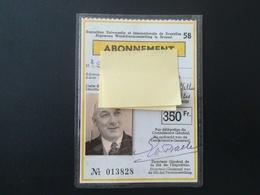 ABONNEMENT EXPOSITION DE BRUXELLES DE 1958 VIEUX PAPIERS TICKETS D ' ENTRÉE - Eintrittskarten