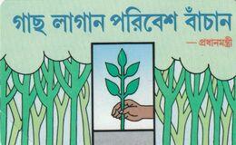 BANGLADESH. Hand Planting A Tree. 25 U. BD-TSS-URM-0001. (008) MINT - Bangladesh