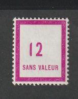 Emission 1957  - Fictif -   - F130  -  12 Lilas     Neuf Sans Charnière - Phantomausgaben