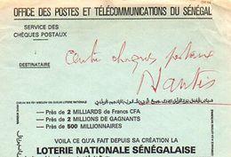 C13 Lettre Service Des Postes Du Sénégal Pour La France - Senegal (1960-...)