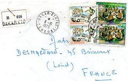 C13 Lettre Recommandée Du Sénégal Pour La France - Senegal (1960-...)