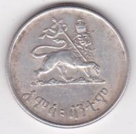 Ethiopie 50 Santeem EE 1936 / 1944 Hailé Selassié I, En Argent . KM# 37 - Etiopía