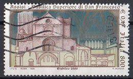Italia 1999 Uf. 2462 Riapertura Della Basilica Superiore Di S. Francesco Used - Churches & Cathedrals