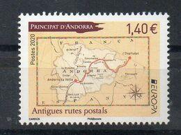 ANDORRE - ANDORRA - 2020 - EUROPA - LES ANCIENNES VOIES POSTALES - ANCIENT POSTAL ROUTES - - French Andorra