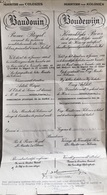 Léopoldville 1952, Document De Ministère Des Colonies, Baudouin Prince Royal. - Documenti Storici