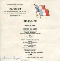 76 - Osmoy Saint Valéry : Menu Du Banquet Des Anciens Combattants 14-18 Et 39-45 - 24 Novembre 1957 - Menükarten