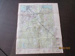Rare! 1939 ESTONIA MILITARY MAP OF LENINGRAD ST. PETERSBURG AREA     , 0 - Carte Geographique