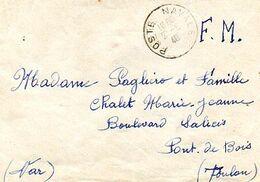 C13 1940 Lettre  En FM  Le Havre Naval Au Dos - Correo Naval