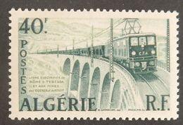 "ALGERIE YT 340 NEUF**MNH ""TRAIN LIGNE BONE-TEBESSA"" ANNÉES 1956/1958 - Algeria (1924-1962)"