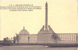 08 - 2020 - PAS DE CALAIS - 62 - NEUVE CHAPELLE - Monument Des Indous Morts De La Grande Guerre - France