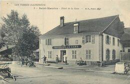 CPA 88 Les Vosges Illustrées Saint Maurice Sur Moselle Hôtel De La Gare - Voiture - 1914 - Other Municipalities