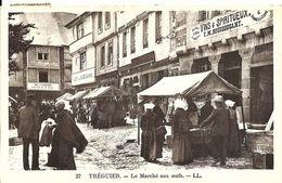 CPA 22 TREGUIER  Le Marché Aux Oeufs , Très Animée , Commerces , Côtes D'Armor - Tréguier