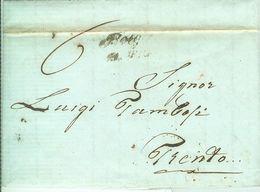 """REGNO LOMBARDO VENETO- 1848 -STRIGNO A TRENTO-21/4/1848 -LETTERA CON AMPIO TESTO""""ACCORDO PAGAMENTO DEBITO""""NOTA STORICA, - 1. ...-1850 Prefilatelia"""