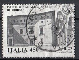 """Italia 1999 Uf. 2480 """"Scuola E Universita"""" Istituto D'arte Di Urbino Used - Churches & Cathedrals"""