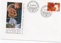 SVIZZERA 2000 - MULINI SOTTERRANEI DI LE COL DES ROCHES - ASSOCIAZIONE PANIFICATORI SVIZZERI - PANE - FORNAIO - Windmills