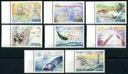 """CAP VERT / CABO VERDE 2007 MNH - """" WHALES / BALEINES/ CICLO DA BALEIA / 1er + 2eme Série """" - 8 VAL. - Cape Verde"""