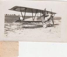 PHOTOGRAPHIE Originale N & B Format 8 X 13 Aviation Avion Nieuport Biplan Escadrille F 35 Juin 1917 Fly  (2 Scans) - Aviation