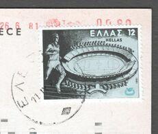 Football Soccer Stadium 1981 GREECE - Athens ACROPOLIS Postcard - European Athletics Championship - Fussball
