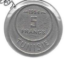 *tunesia  5 Francs 1954  Km 277   Xf+/ms60 - Tunisia