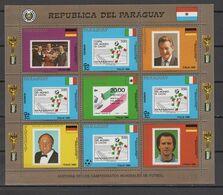 Paraguay 1988 Football Soccer World Cup Sheetlet MNH - Fußball-Weltmeisterschaft