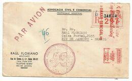 EMA SENEGAL 96F DAKAR PRINCIPAL LETTRE REC 19?? POUR LE BRESIL - Senegal (1887-1944)