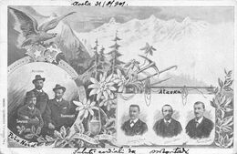 "01715 ""AOSTA - GUIDE ALPINE - POLO NORD - ALASKA - LORENZO CROUX - CESARE OLLIER - FABRIEN CROUX......""  CART  SPED 1901 - Aosta"