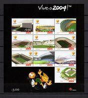 Portugal 2003 Football Soccer European Championship Sheetlet MNH - Fußball-Europameisterschaft (UEFA)
